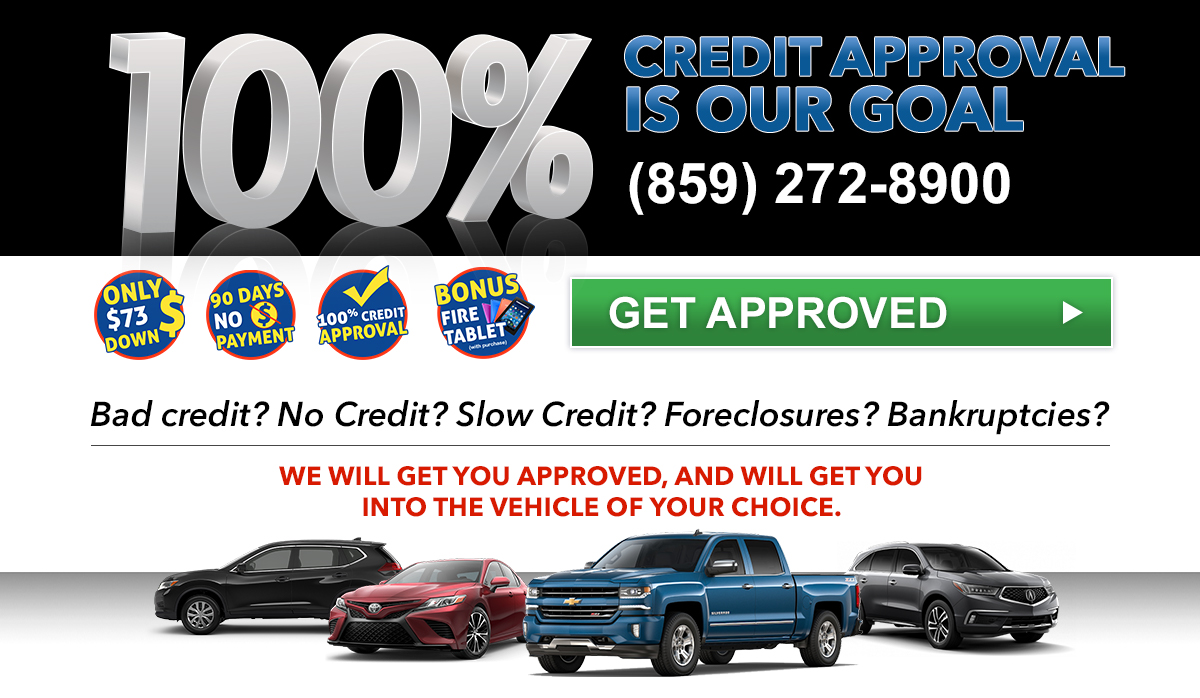 Auto Loans For Bad Credit >> Bad Credit Car Loans In Lexington 100 Credit Approval
